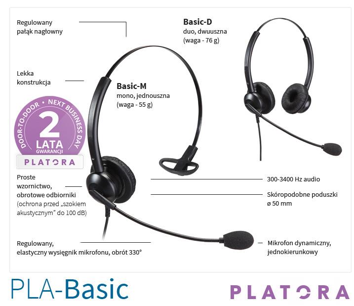 słuchawka call center platora basic