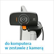 słuchawki USB do komputera w zestawie z kamerą