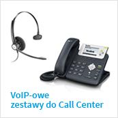 zestawy contact center telefon + słuchawka nagłowna