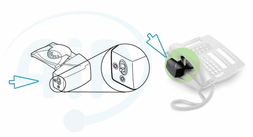 Podłączenie podnośnika HL10 z telefonem stacjonarnym