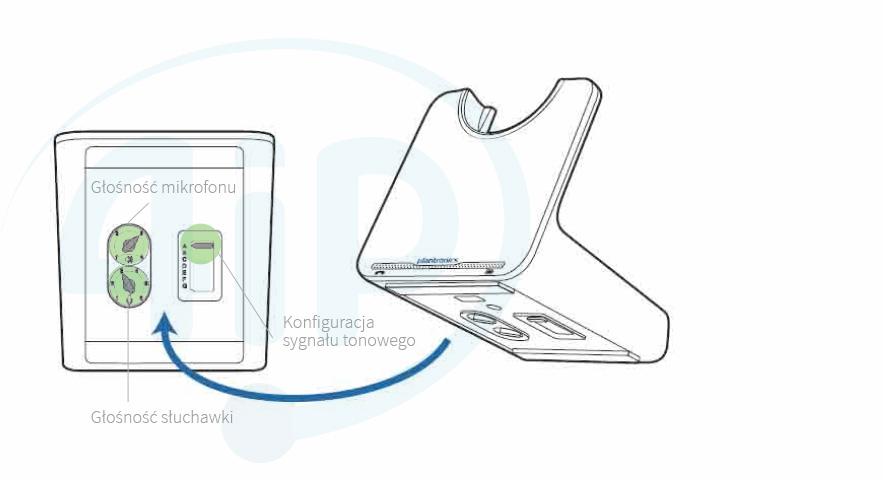 Regulacja / strojenie bazy Plantronics CS500