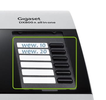 Panel boczny telefonu Guigaset DX800A